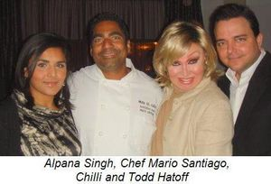 Blog 2 - Alpana Singh, Chef Mario Santiago, Chilli and Todd Hatoff