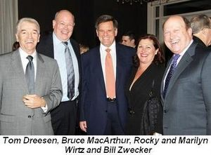 Tom Dreesen, Bruce MacArthur, Rocky and Marilyn Wirtz, Bill Zwecker