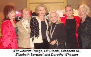 Blog 1 - With Jolanta Ruege, Lili Cicotti, Elizabeth M, Elizabeth Bertucci and Dorothy Whealan