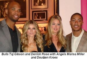 Blog 2 - Bull's Taj Gibson, Marisa Miller, Doutzen Kroes and Bull's star Derrick Rose