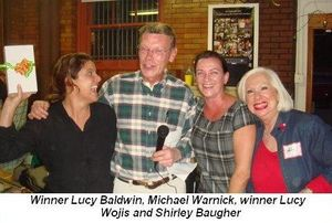 Blog 2 - Winner Lucy Baldwin, Michael Warnick, winner Lucy Wojis and Shirley Baugher
