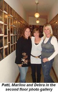 Blog 5 - On 2nd floor photo gallery with Patti, Marilou and Debra