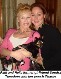 Blog 6 - Hef's former girlfriend, Sondra Theodore, with Patti and Charlie