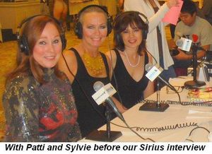Blog 9 - With Patti and Sylvie before our Sirius radio interview