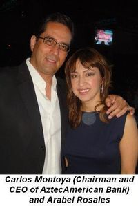 Blog 1 - Carlos Montoya Chairman and CEO of AztecAmerica Bank and presenting sponsor with Arabel Rosales