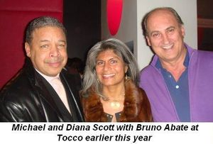 Michael and Diana Scott with Bruno Abate at Tocco
