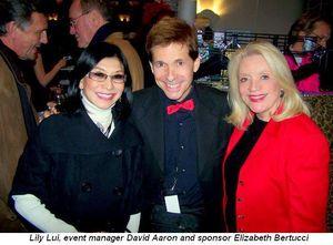 Blog 8 - Lily Lui, David Aaron-Event Manager & Elizabeth Bertucci-Sponsor