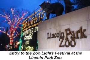 Blog 1 - The entry to the Zoo Lights Festival at the Lincoln Park Zoo