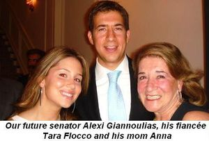 01- Our future senator Alexi Giannoulias, his fiancée Tara Flocco and his mom Anna