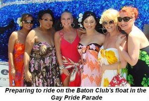07 - Preparing to ride on the Baton's float for the Gay Pride Parade on June 28th