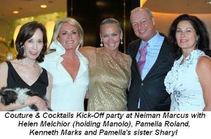 01 - Couture & Cocktails Kick-Off party with Helen Melchior, Pamella Roland, Kenneth Marks and Pamella's sister Sharyl on July 29th