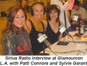 02 - Sirius Radio interview at Glamourcon LA with Patti Connors and Sylvie Garant in Nov