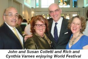 05 - Enjoying World Festival, John and Susan Colletti with Rich and Cynthia Varnes on (March 23rd