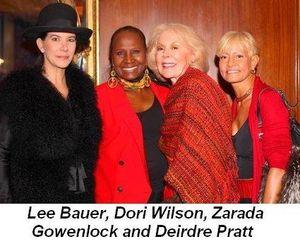 Blog 6 - Lee Bauer, Dori Wilson, Zarada Gowenlock and Deirdre Pratt