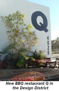 Blog 14 - New BBQ restaurant Q in the Design District