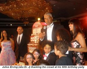 Blog 1 - Dr. J, Julius Erving thanking the crowd at his 60th birthday party