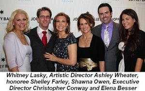 Blog 1 - Whitney Lasky, Artistic Director Ashley Wheater, honoree Shelley Farley, Shawna Owen, Exec. director Christopher Conway and Elena Besser