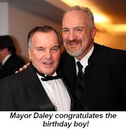 Blog 1 - Mayor Daley congratulates the birthday boy