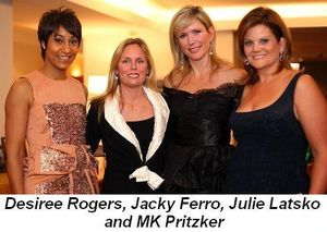 Blog 2 - Desiree Rogers, Jacky Ferro, Julie Latsko and MK Pritzker