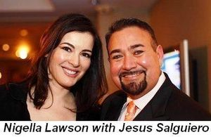 Blog - Nigella Lawson with Jesus Salguiero