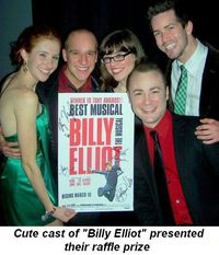 Blog 1 - Cute cast of Billy Elliot presented raffle prize