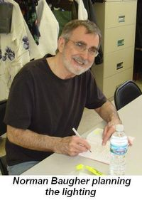 Blog 2 - Norman Baugher planning the lighting