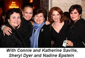 Blog 12 - With Connie and Katherine Saville, Sheryl Dyer and Nadine Epstein