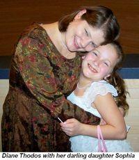 Blog 6 - Diane Thodos and her darling daughter Sophia