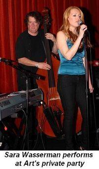 Blog 15 - Sara Wasserman performs at Art's private party