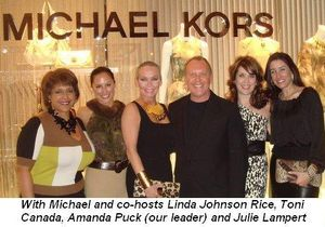 Blog 1 - With Michael and co-hosts Linda Johnson Rice, Toni Canada, Amanda Puck our leader and Julie Lampert