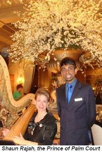 Blog 6 - Shaun Rajah, The Prince of Palm Court