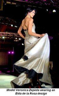 Blog 2 - Model Veronica Zepeda wearing design by Elda de la Rosa