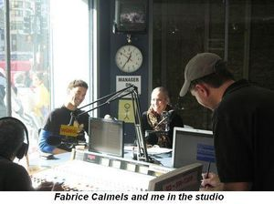 Blog 2 - Fabrice Calmels and me in the studio