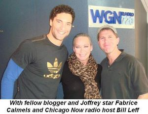 Blog 3 - With fellow blogger and principal Joffrey dancer, Fabrice Calmels, and Chicago Now radio host, Bill Leff