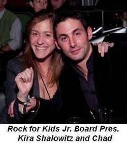 Blog 6 - Rock For Kids Jr. Board Pres Kira Shalowitz and Chad