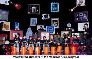 Blog 8 - Percussion students in the Rock For Kids program