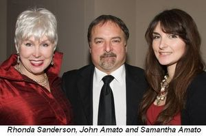 Blog 7 - Rhonda Sanderson, John Amato and Samantha Amato