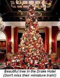Blog 3 - Beautiful tree in the Drake Hotel Their miniature train display is not to be missed