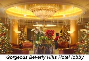 Blog 2 - Gorgeous lobby of the Beverly Hills Hotel