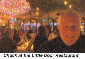 Blog 3 - Chuck at the Little Door Restaurant