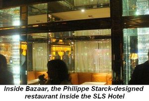 Blog 4 - Inside Bazaar, the Philippe Starck designed restaurant inside the SLS Hotel