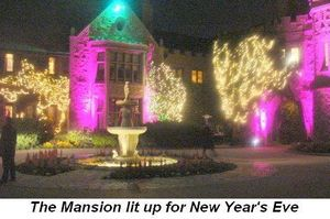 Blog 7 - The Mansion lit up for New Year's Eve