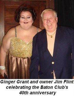 06 - Ginger Grant and owner Jim Flint celebrating the Baton's 40th Anniversary March 22nd