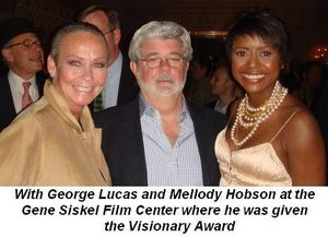 11 - With George Lucas and Mellody Hobson at the Gene Siskel Film Center where he was given the Visionary Award on June 13th