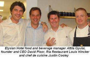 04 - Elysian's Attila Gyulai, David Pisor, GM of Ria Rest. Louis Hickner and Justin Cooley