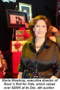 03 - Maria Mowbray, the Exec Dir of Rock 'n Roll for Kids Charity, which raised over $200K on Dec 4th