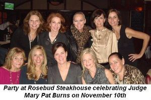 05 - Party at Rosebud Steakhouse celebrating Judge Mary Pat Burns on Nov 10th