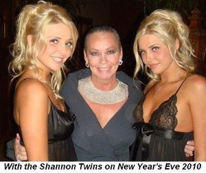 06 - With the Shannon Twins on New Year's Eve at the Mansion in Dec
