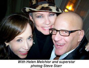 Blog 3 - With Helen Melchior and superstar photog Steve Starr