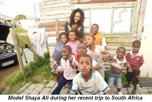 Shaya Ali with kids